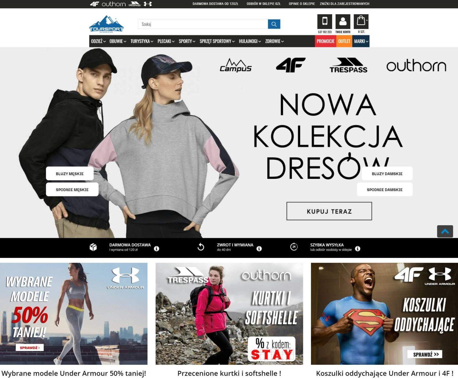 toursport.pl - Sklep z odzieżą sportową dla niej i niego