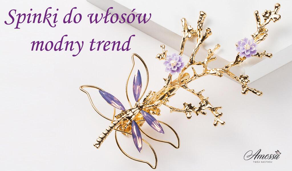 Spinki do włosów modny trend